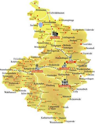 eichsfeld karte Eichsfeld Karte | goudenelftal